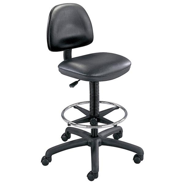 Safco Black Precision Vinyl Drafting Chair/ Foot Ring