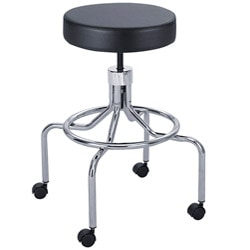 Safco Black Manual High Base Lab Stool