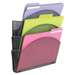 Safco Magnetic Mesh Triple File Baskets (Pack of 6)