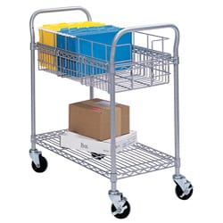 Safco Grey 24-inch Mail Cart