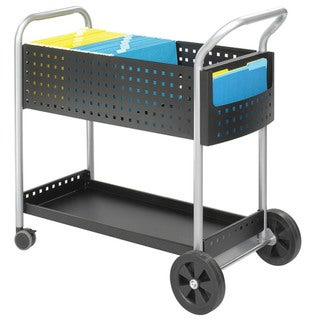 Safco Steel Black 32-inch Scoot Mail Cart
