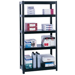Safco Black Boltless 36x18-inch Shelf Unit