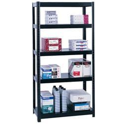Safco Black Boltless 36x18-inch Shelf Unit
