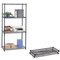 Safco Black Extra Wire 18x36-inch Shelves (Pack of 2)