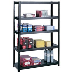 Safco Black Boltless 48x18-inch Shelf Unit
