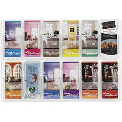 Safco Reveal Clear 12-pamphlet Display