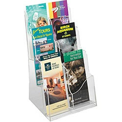 Safco Acrylic 3-pocket Magazine Display
