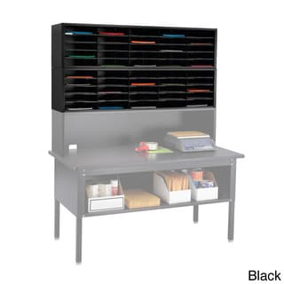 Safco E-Z Sort Gray Solid Steel Mail Sorter with Adjustable Shelves