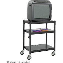 Safco Steel Adjustable Height Audio/ Visual Cart