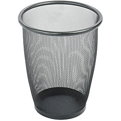 Safco Medium Round Mesh Wastebasket (Case of 3)