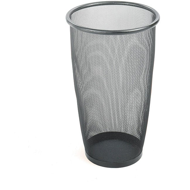 Safco Large Round Mesh Wastebaskets (Case of 3)