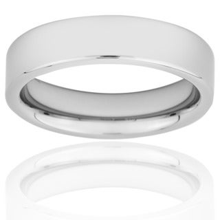 Men's Tungsten Carbide Flat Polished Band (6 mm)