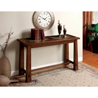 Furniture of America Giallo Marble-slate Sofa Table