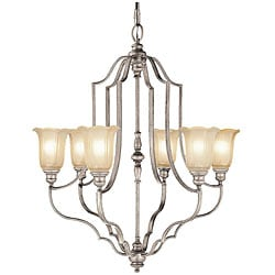 Champagne Finish 6-light Chandelier
