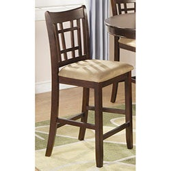 Dark Cherry Splendor Counter Stools (Set of 2)