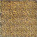Handmade Soho Leopard Skin Beige New Zealand Wool Rug (6' Square)