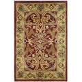 Safavieh Handmade Heritage Treasures Red/ Gold Wool Rug (2' x 3')