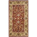 Safavieh Handmade Heritage Treasures Red/ Gold Wool Rug (3' x 5')
