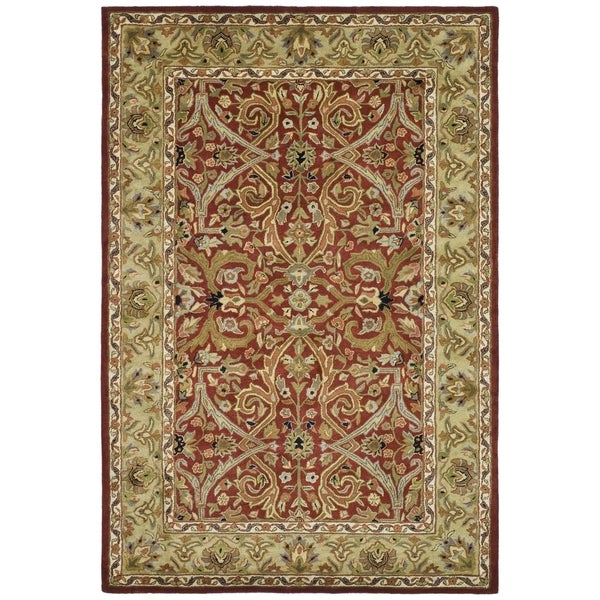 Safavieh Handmade Heritage Treasures Red/ Gold Wool Rug (4' x 6')