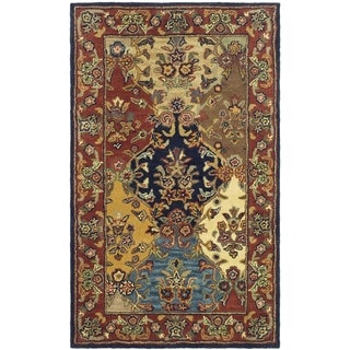 Handmade Heritage Heirloom Multicolor Wool Rug (2' x 3')