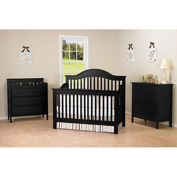 DaVinci Jayden 4-in-1 Convertible Crib with Toddler Rail in Ebony