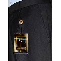 Giorgio Fiorelli Men's Black Single-pleat Dress Pants