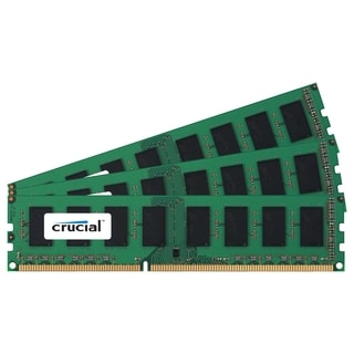Crucial 12GB Kit (4GBx3), 240-Pin DIMM, DDR3 PC3-8500 Memory Module