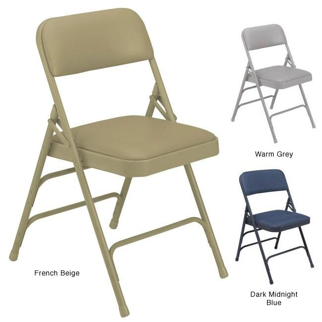 NPS Upholstered Vinyl Premium Folding Chair (Pack of 4)