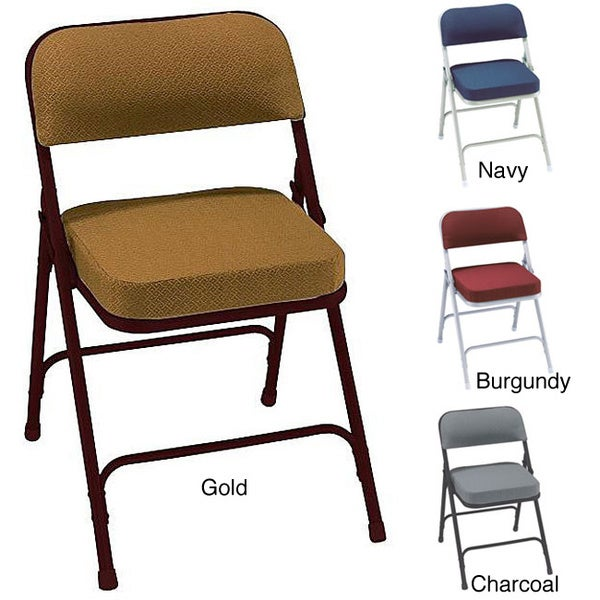 NPS Upholstered Box Seat Folding Chairs Pack of 2 Overstock