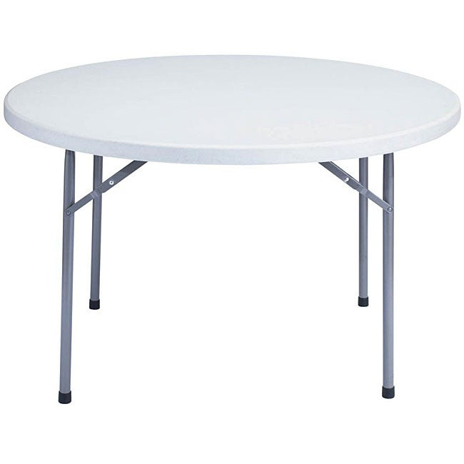 nps resin 48 inch grey round folding table 12584220 shopping the best prices. Black Bedroom Furniture Sets. Home Design Ideas