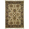Safavieh Handmade Heirloom Ivory/ Black Wool Rug (4' x 6')