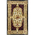 Safavieh Handmade Classic Black/ Beige Wool Runner (2'3 x 4')