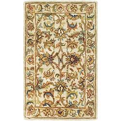 Safavieh Handmade Classic Ivory Wool Rug (2' x 3')