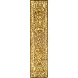 Safavieh Handmade Classic Gold/ Ivory Wool Runner (2'3 x 12')