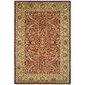 Handmade Heritage Treasures Red/ Gold Wool Rug (9'6 x 13'6)
