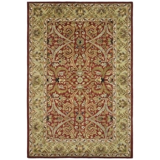 Safavieh Handmade Heritage Treasures Red/ Gold Wool Rug (9'6 x 13'6)