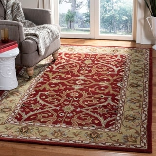 Safavieh Handmade Heritage Treasures Red/ Gold Wool Rug (5' x 8')