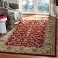 Handmade Heritage Treasures Red/ Gold Wool Rug (5' x 8')