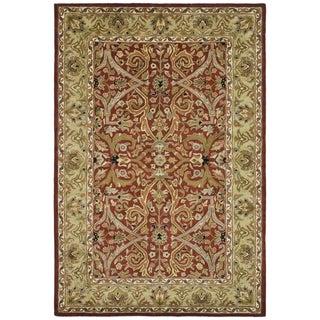 Safavieh Handmade Heritage Treasures Red/Gold Wool Area Rug (6' x 9')