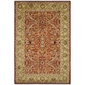 Handmade Heritage Treasures Red/ Gold Wool Rug (6' x 9')