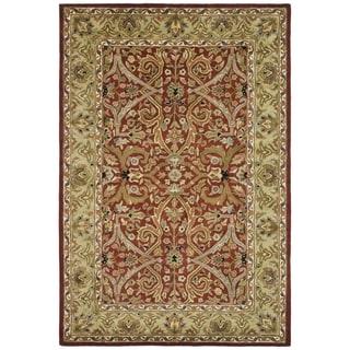 Safavieh Handmade Heritage Treasures Red/ Gold Wool Rug (7'6 x 9'6)