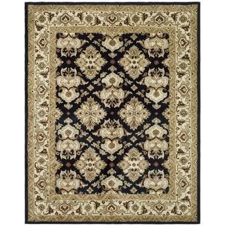 Safavieh Handmade Heritage Traditions Black/ Ivory Wool Rug (5' x 8')