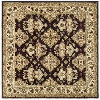 Safavieh Handmade Traditions Dark Mocha/ Ivory Wool Rug (8' Square)