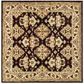 Handmade Traditions Dark Mocha/ Ivory Wool Rug (8' Square)