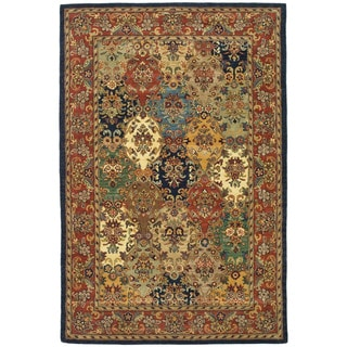 Handmade Heritage Heirloom Multicolor Wool Rug (5' x 8')