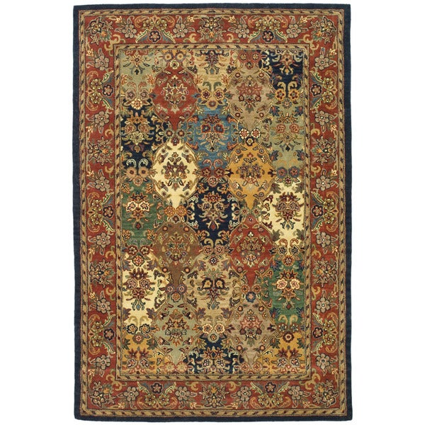 Safavieh Handmade Heritage Heirloom Multicolor Wool Rug (5' x 8')