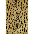 Safavieh Handmade Soho Leopard Skin Beige New Zealand Wool Rug (3'6 x 5'6)