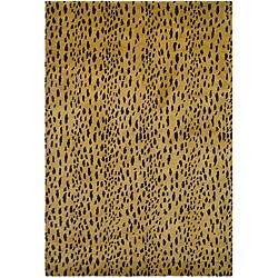 Safavieh Handmade Soho Leopard Skin Beige New Zealand Wool Rug (6' x 9')
