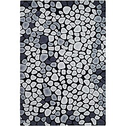 Safavieh Handmade Soho Pebbles Black/ Grey New Zealand Wool Rug (5' x 8')