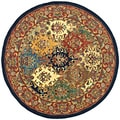 Handmade Heritage Heirloom Multicolor Wool Rug (3'6 Round)
